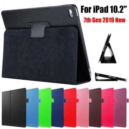 "For iPad 7th Gen 10.2"" 2019 Magnetic Smart Cover Leather Stand Case"
