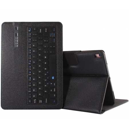 For iPad 7th Gen 10.2 inch Removable Bluetooth Keyboard Case Flip Leather Cover - Black