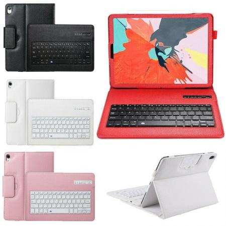 For iPad 7th Generation 10.2 Bluetooth Keyboard Leather Case