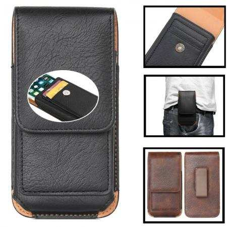 For LG K51 Reflect Stylo 6 G8X V60 5G ThinQ Phone Case Card Holder Belt Clip Loop Pouch Cover