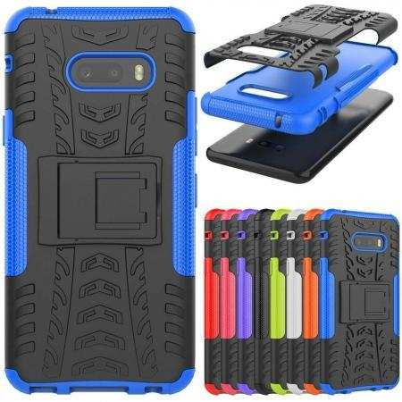 For LG G8X ThinQ - Shockproof Defender Dual Layer Hybrid Armor Case Cover