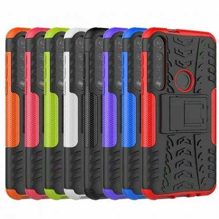 For Motorola Moto G8 Plus Shockproof Rugged Hybrid Armor Case Stand Cover