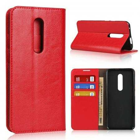 For Oneplus 7T Pro 5G McLaren Genuine Leather Wallet Flip Case Stand Cover
