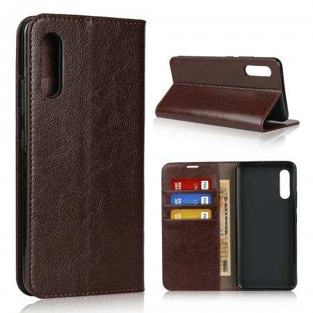 For Samsung Galaxy A90 5G Genuine Leather Wallet Flip Case Stand Cover