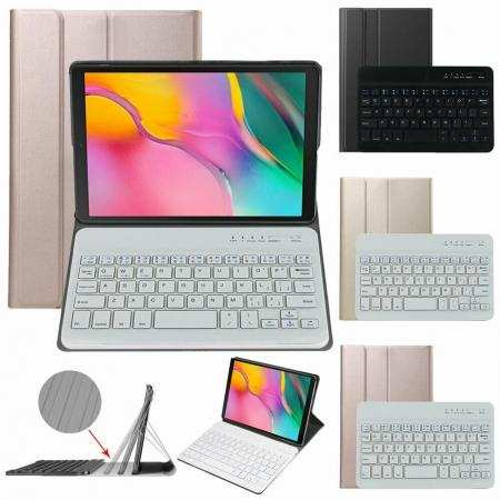 For Samsung Galaxy Tab A7 10.4 T500 Wireless Keyboard Leather Stand Case Cover