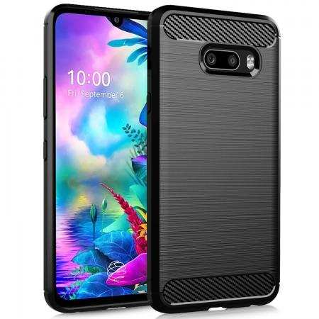 For LG G8X Thinq - Protection Phone Cover Shockproof Soft TPU Case Black