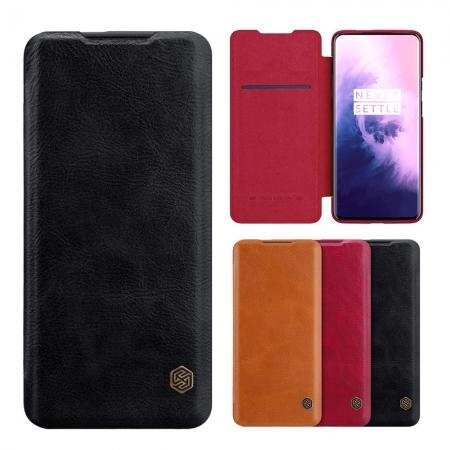 For OnePlus 7T Pro - Leather Case NILLKIN Flip Card Slot Holder Cover