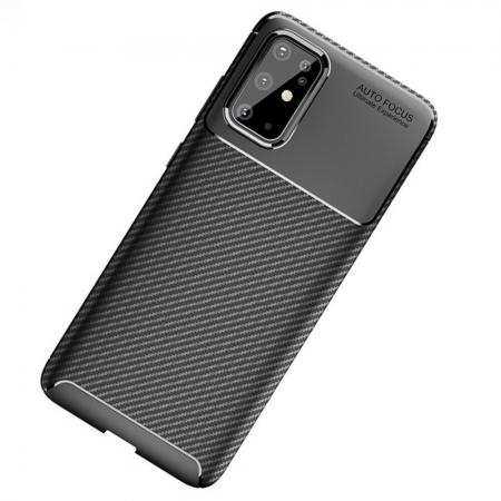 For Samsung Galaxy S20 Ultra - Carbon Fiber Soft Silicone Back Cover Case