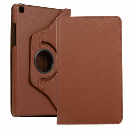 For Samsung Galaxy Tab A 8.0 2019 T290 Smart Tablet Stand Flip Case - Brown