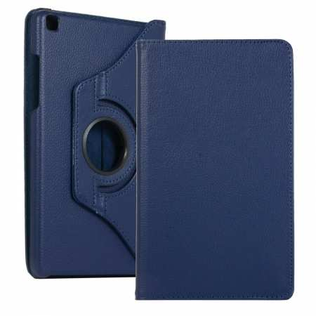 For Samsung Galaxy Tab A 8.0 2019 T290 T295 360 Rotating PU Leather Case Cover - Navy Blue