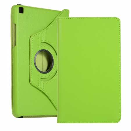 "For Samsung Tab A 8.0"" T290 T295 2019 Leather Case 360º Rotated Stand Cover - Green"