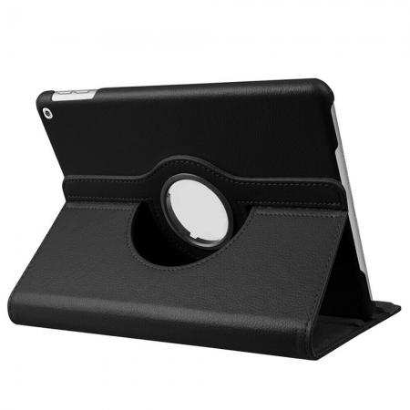 Leather Case for Apple iPad 10.2 7th Generation 2019 360 Rotating Smart Cover Black
