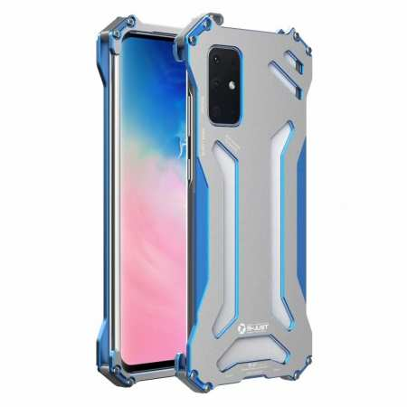 R-JUST Shockproof Aluminum Metal Case for Samsung Galaxy S20 Plus Ultra 5G - Blue