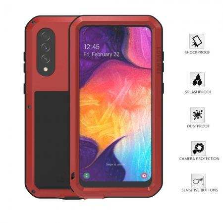 Aluminum Metal Gorilla Glass Waterproof Shockproof Military Case for Samsung Galaxy A50