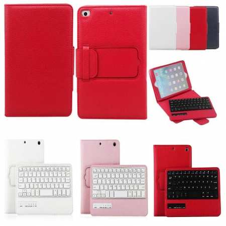 For iPad Mini 5th Generation 2-in-1 Wireless Keyboard PU Leather Case Cover