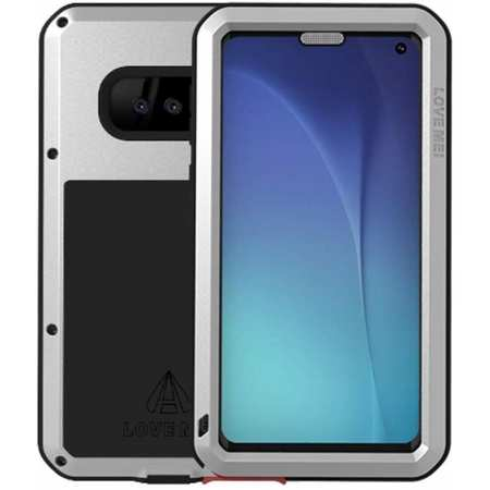For Samsung Galaxy S10e Aluminum Metal Case Waterproof Shockproof Cover Silver