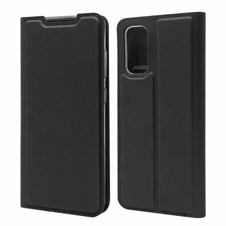 For Samsung Galaxy S20 - Leather Magnetic Case Wallet Flip Cover - Black