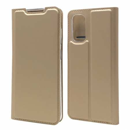 For Samsung Galaxy S20 - Leather Magnetic Case Wallet Flip Cover - Gold