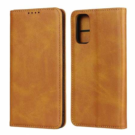 For Samsung Galaxy S20 Magnetic Leather Wallet Flip Case Cover Stand - Brown