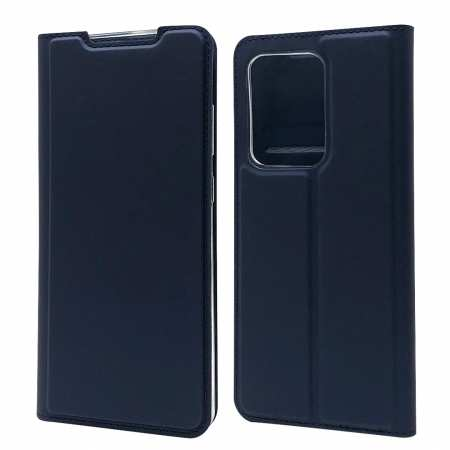 For Samsung Galaxy S20 UItra - Case Magnetic Flip Leather Wallet Stand Cover - Dark Blue