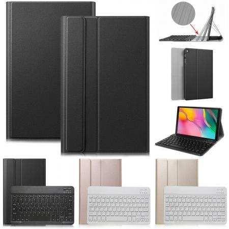 For Samsung Galaxy Tab A 10.1 2019 T510/T515 Ultra-thin Wireless Keyboard Leather Case