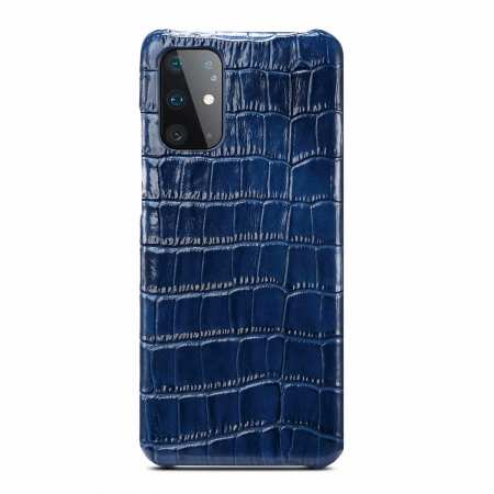 Genuine Crocodile Leather Case for Samsung Galaxy S20 Plus Ultra - Navy Blue