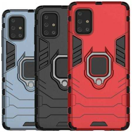 Case For Samsung Galaxy A51 A71 5G Rugged Armor Ring Holder Stand Cover