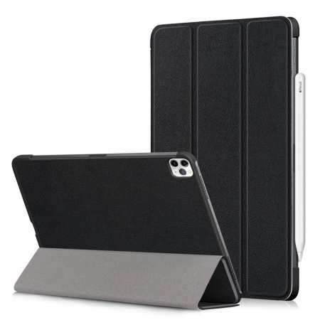For Apple iPad Pro 11 2020/iPad 7th Gen 10.2 2019 Leather Stand Tablet Case Cover - Black