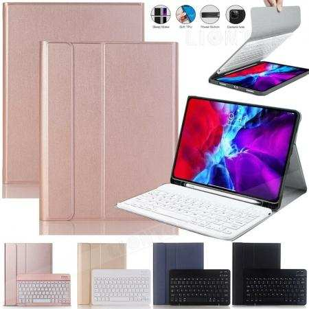 For iPad Pro 11 12.9 2020 Wireless Bluetooth Keyboard Case Leather Stand Cover
