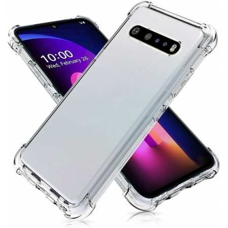 For LG K51 Stylo 6 V60 5G ThinQ G8 G8X V50 Clear Crystal Shockproof TPU Case Cover