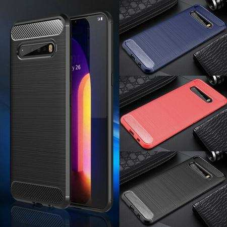 For LG K51 V60 ThinQ 5G Case Slim Soft Shockproof Carbon Fiber Protective Cover