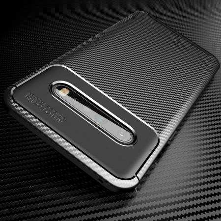 For LG V60 ThinQ 5G Phone Case Shockproof Armor Carbon Fiber Hybrid Brush Cover