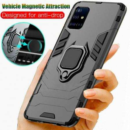 For Samsung Galaxy Note 20 S20 Ultra 5G Case Shockproof Armor Ring Stand Cover