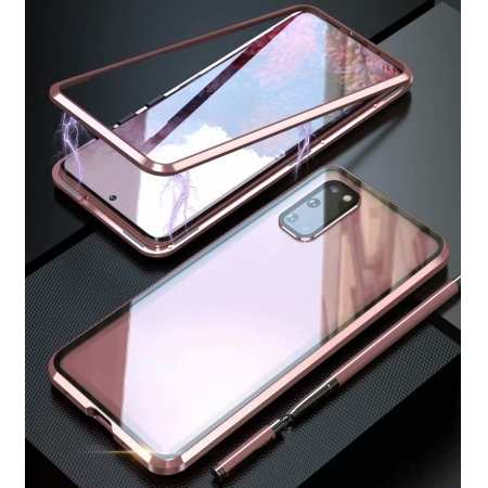 Magnetic Adsorption Case For Samsung Galaxy S20+ Plus Ultra Metal Back Glass Cover