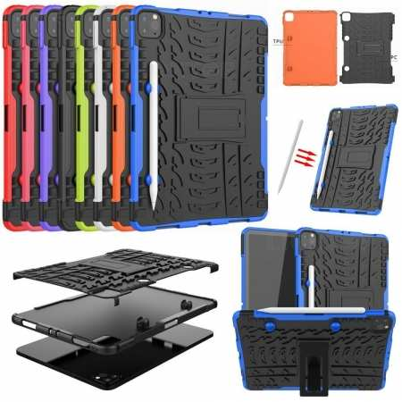 "For iPad Pro 11"" 2nd 2020 Tablet Case Shockproof Hybrid Rubber Rugged Tough Stand Cover"