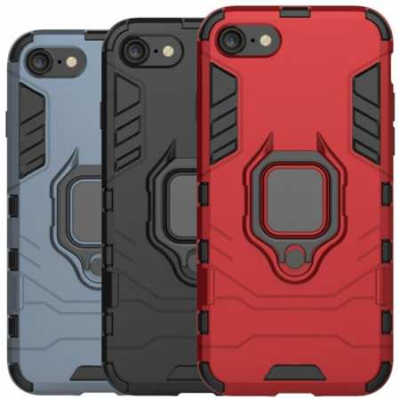 For iPhone SE 2020 4.7'' Phone Case Rugged Armor Ring Holder Kickstand Cover