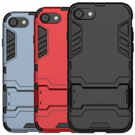 For iPhone SE 4.7 2020 Phone Case Rugged Armor Kickstand Back Cover