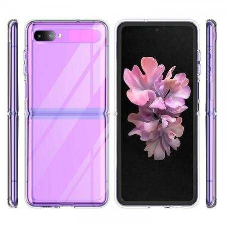 For Samsung Galaxy Z Flip Phone Case (2020) Slim Protective PC Clear Cover