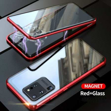 For Samsung Galaxy Note 20 Ultra 5G Case Magnetic Adsorption Double Sided Glass Phone Cover