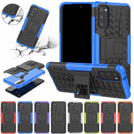 For Samsung Galaxy S20 FE 5G , A71 5G UW Case Shockproof Rugged Armor Stand Cover