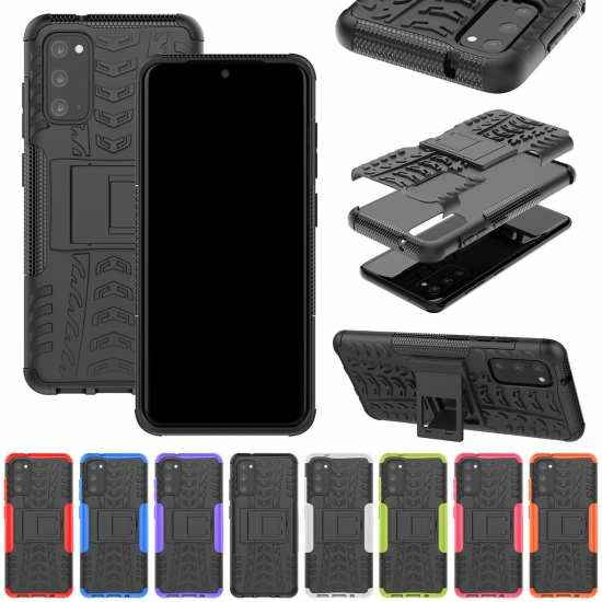 For Samsung Galaxy A71 5G UW Case A51 A21 A11 Shockproof Rugged Armor Stand Hard Cover