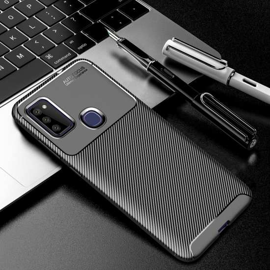 For Samsung Galaxy M51 A51 5G Case Shockproof Carbon Fiber Soft Cover