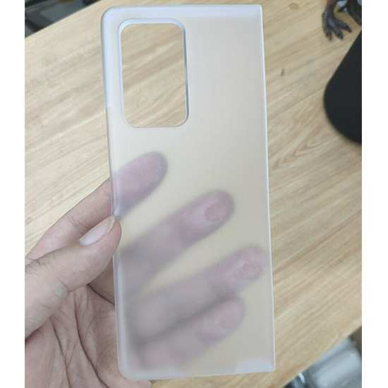 For LG Wing 5G Shockproof Slim Hard PC Matte Clear Case Cover