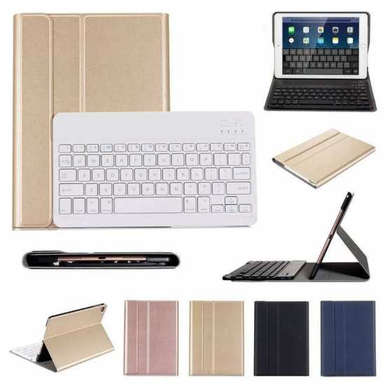 For Samsung Galaxy Tab A7 10.4 Bluetooth Keyboard Cover Leather Stand Case