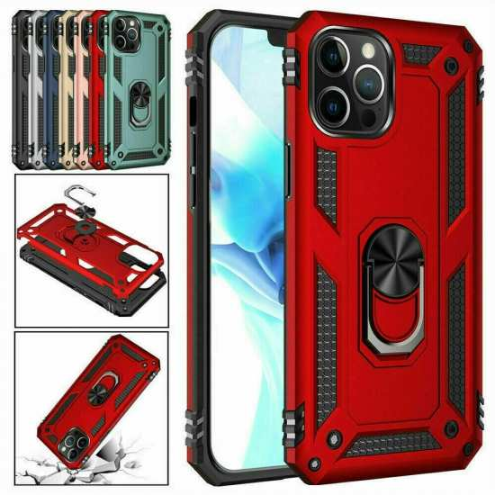 For iPhone 12 Pro Max Mini Phone Case Ring Holder Stand Cover
