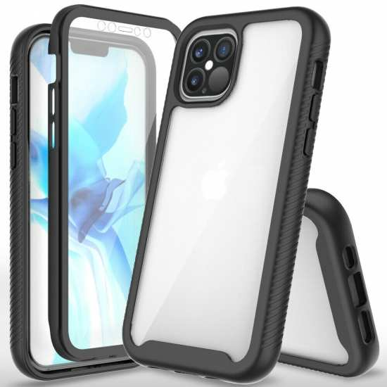For iPhone 12 Pro Max 12 Mini Case Full Body Built-In Screen Protector Cover
