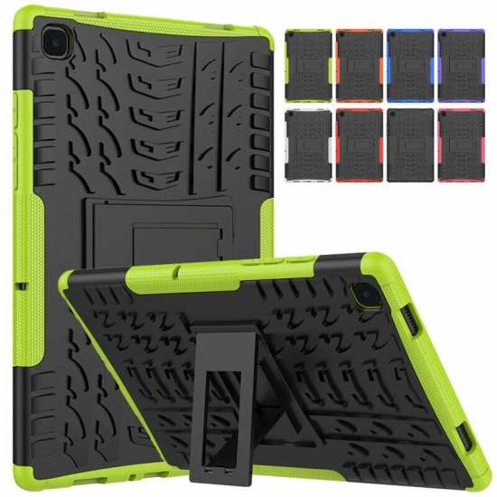 "For Samsung Galaxy Tab A7 10.4"" SM-T500 Heavy Duty Rubber Stand Armor Case Cover"