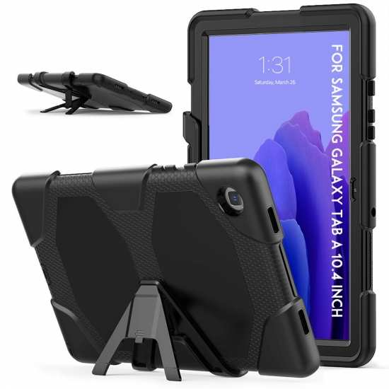 Cover For Samsung Galaxy Tab A7 10.4 Shockproof Rugged Stand Case - Black