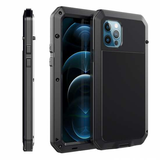 For iPhone 12 Pro Max / 11 / XR / XS Max Armor Heavy Duty Aluminum Case Cover