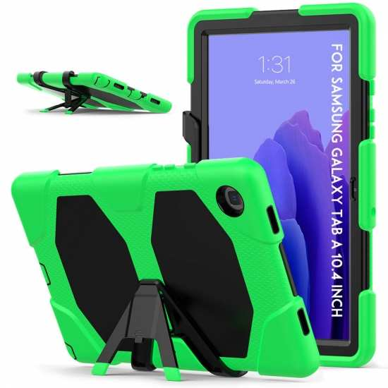 For Samsung A7 10.4 Case T500 Rugged Stand Protective Cover - Green